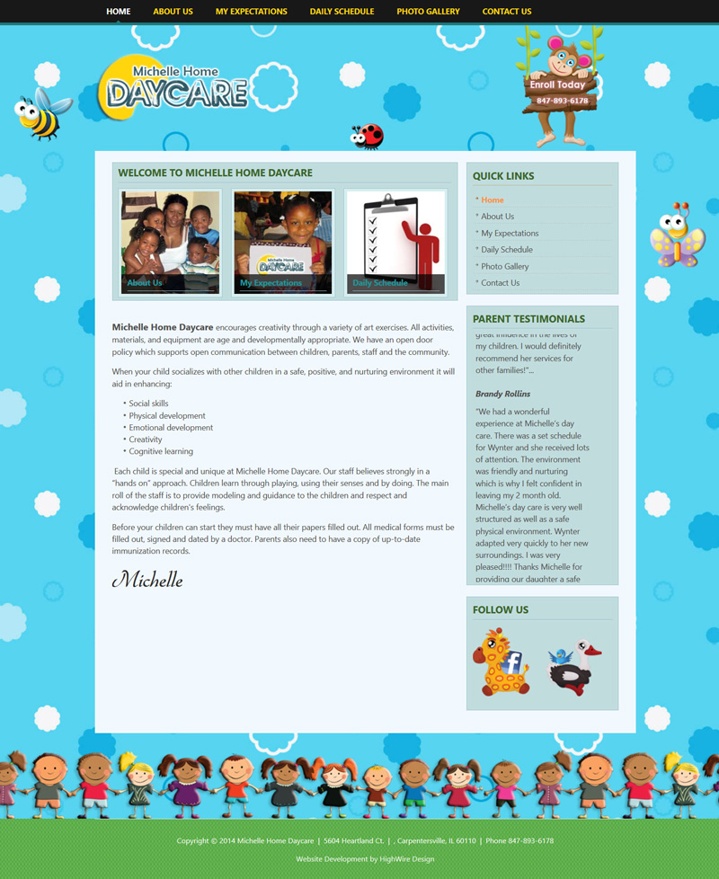 Home daycare website design home design and style - Website for home design ...