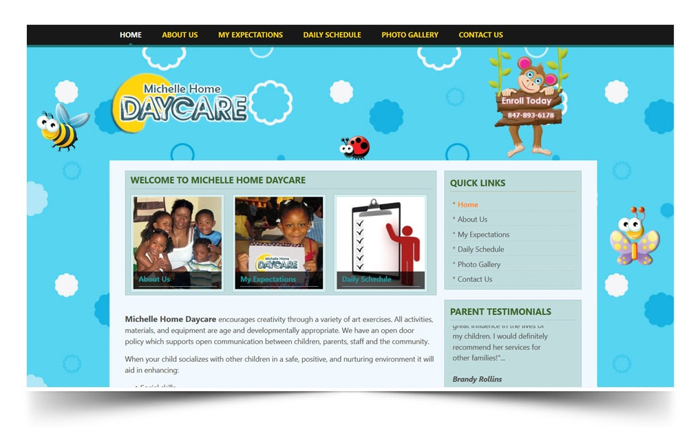 michelle home daycare | daycare website